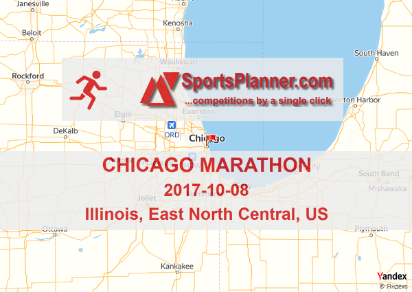 Jonathan Farrell Bank Of America Chicago Marathon Course Map The - Us map generator