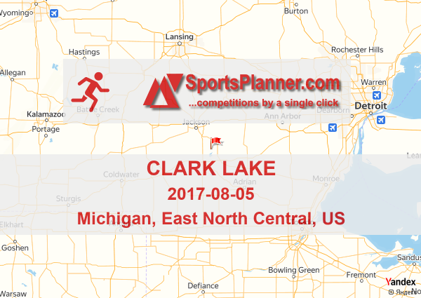 Clark Lake Michigan Map.Clark Lake Running In East North Central Us 05 August 2017