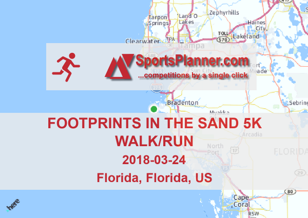 Footprints in the Sand 5K Walk/Run | Running in Florida (US), 24