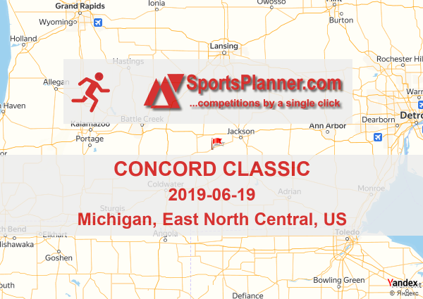 Concord Michigan Map.Concord Classic Running In East North Central Us 19 June 2019