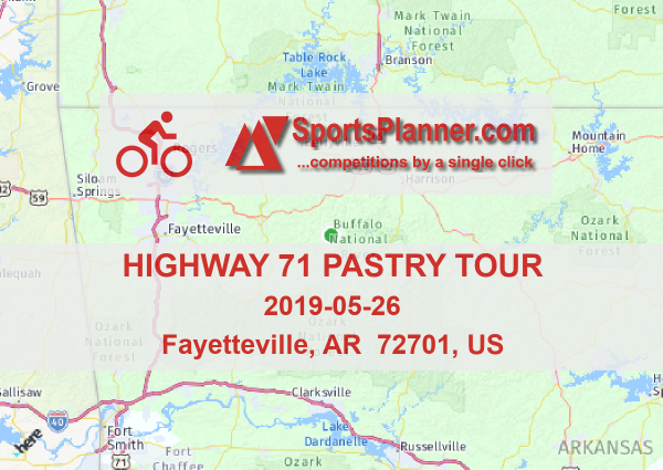 Highway 71 Pastry Tour Cycling In Ar 72701 Us 26 May 2019 - Us-highway-71-map